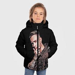 Куртка зимняя для мальчика Егор Крид: Время не пришло цвета 3D-черный — фото 2