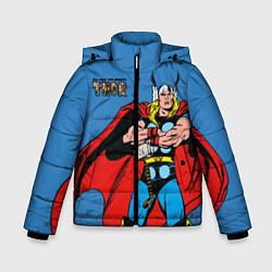 Куртка зимняя для мальчика All hail the mighty Thor цвета 3D-черный — фото 1