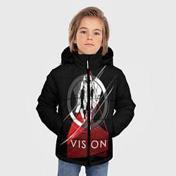 Куртка зимняя для мальчика Vision цвета 3D-черный — фото 2
