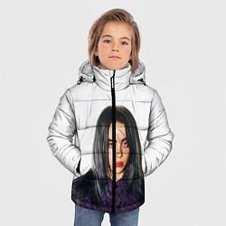 Куртка зимняя для мальчика BILLIE EILISH цвета 3D-черный — фото 2
