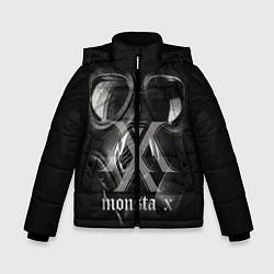 Детская зимняя куртка для мальчика с принтом Monsta X, цвет: 3D-черный, артикул: 10186857506063 — фото 1