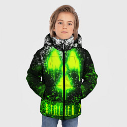 Куртка зимняя для мальчика S T A L K E R 2 цвета 3D-черный — фото 2