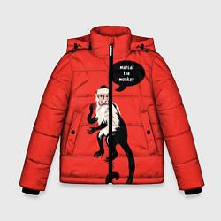 Куртка зимняя для мальчика Marcel the monkey цвета 3D-черный — фото 1