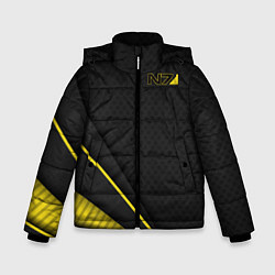 Куртка зимняя для мальчика Mass Effect N7 цвета 3D-черный — фото 1