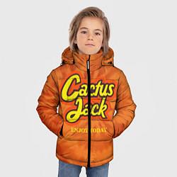 Детская зимняя куртка для мальчика с принтом Cactus Jack, цвет: 3D-черный, артикул: 10199295306063 — фото 2