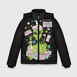 Куртка зимняя для мальчика I want to believe цвета 3D-черный — фото 1