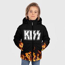 Куртка зимняя для мальчика Kiss: Hell Flame цвета 3D-черный — фото 2