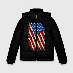 Куртка зимняя для мальчика Флаг цвета 3D-черный — фото 1