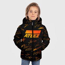 Куртка зимняя для мальчика ATEEZ АВТОГРАФЫ цвета 3D-черный — фото 2