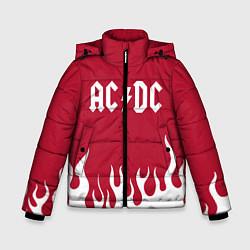 Куртка зимняя для мальчика AC DC цвета 3D-черный — фото 1