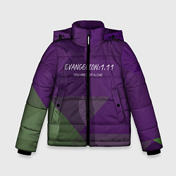 Куртка зимняя для мальчика Evangelion: 111 цвета 3D-черный — фото 1