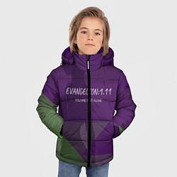 Детская зимняя куртка для мальчика с принтом Evangelion: 111, цвет: 3D-черный, артикул: 10201116106063 — фото 2
