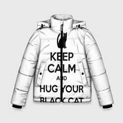 Куртка зимняя для мальчика Обними своего черного кота - фото 1