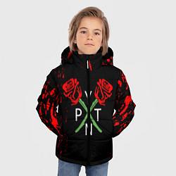 Куртка зимняя для мальчика Payton Moormeie - тикток цвета 3D-черный — фото 2