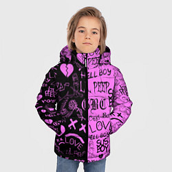 Куртка зимняя для мальчика LIL PEEP LOGOBOMBING цвета 3D-черный — фото 2