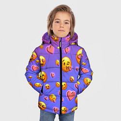 Куртка зимняя для мальчика Очень много эмодзи цвета 3D-черный — фото 2
