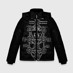 Детская зимняя куртка для мальчика с принтом EVa-updown, цвет: 3D-черный, артикул: 10206831706063 — фото 1