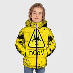 Куртка зимняя для мальчика NСov цвета 3D-черный — фото 2