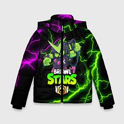 Куртка зимняя для мальчика BRAWL STARS VIRUS 8-BIT цвета 3D-черный — фото 1