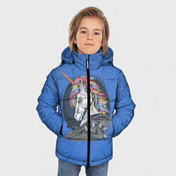 Куртка зимняя для мальчика Единорог Rock цвета 3D-черный — фото 2