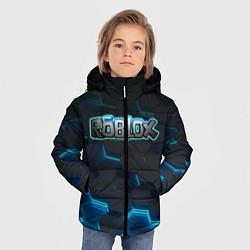 Куртка зимняя для мальчика Roblox Neon Hex цвета 3D-черный — фото 2