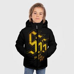 Куртка зимняя для мальчика SSS Rank цвета 3D-черный — фото 2