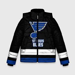 Куртка зимняя для мальчика Сент-Луис Блюз цвета 3D-черный — фото 1