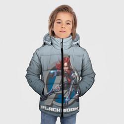 Куртка зимняя для мальчика Черная вдова цвета 3D-черный — фото 2