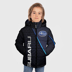 Куртка зимняя для мальчика SUBARU цвета 3D-черный — фото 2