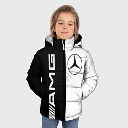 Куртка зимняя для мальчика MERCEDES AMG цвета 3D-черный — фото 2