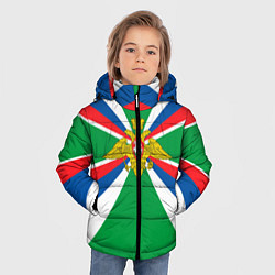 Куртка зимняя для мальчика Пограничные Войска цвета 3D-черный — фото 2