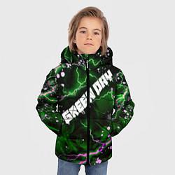 Куртка зимняя для мальчика GreenDay цвета 3D-черный — фото 2