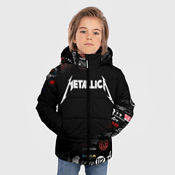 Куртка зимняя для мальчика Metallica цвета 3D-черный — фото 2
