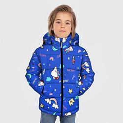 Куртка зимняя для мальчика Magical unicorn цвета 3D-черный — фото 2