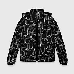 Куртка зимняя для мальчика Стеклянный бармен цвета 3D-черный — фото 1