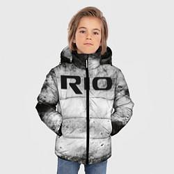 Детская зимняя куртка для мальчика с принтом KIA RIO, цвет: 3D-черный, артикул: 10211866506063 — фото 2