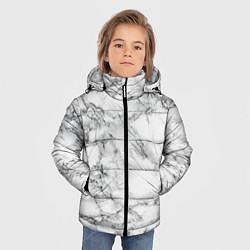 Куртка зимняя для мальчика Мрамор цвета 3D-черный — фото 2