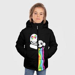 Куртка зимняя для мальчика Биба и Боба Oko цвета 3D-черный — фото 2