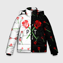 Куртка зимняя для мальчика PAYTON MOORMEIER - ТИКТОК цвета 3D-черный — фото 1