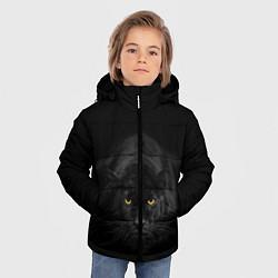 Куртка зимняя для мальчика Пантера цвета 3D-черный — фото 2