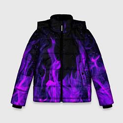 Куртка зимняя для мальчика ФИОЛЕТОВЫЙ ОГОНЬ цвета 3D-черный — фото 1