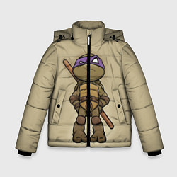 Куртка зимняя для мальчика Маленький Донателло цвета 3D-черный — фото 1