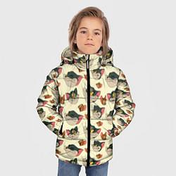 Куртка зимняя для мальчика Tom: Pattern цвета 3D-черный — фото 2