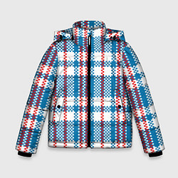 Куртка зимняя для мальчика Текстура Сумка Челнока цвета 3D-черный — фото 1