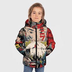 Куртка зимняя для мальчика AKIRA цвета 3D-черный — фото 2