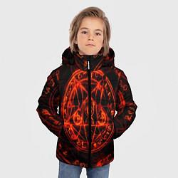 Куртка зимняя для мальчика ПЕНТАГРАММА цвета 3D-черный — фото 2