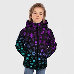 Куртка зимняя для мальчика RAINBOW SIX SIEGE NEON цвета 3D-черный — фото 2