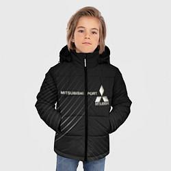 Куртка зимняя для мальчика MITSUBISHI цвета 3D-черный — фото 2