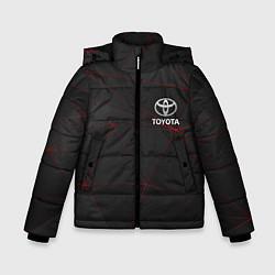 Куртка зимняя для мальчика TOYOTA цвета 3D-черный — фото 1