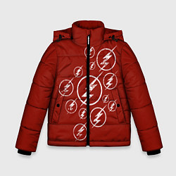 Куртка зимняя для мальчика The Flash Logo цвета 3D-черный — фото 1